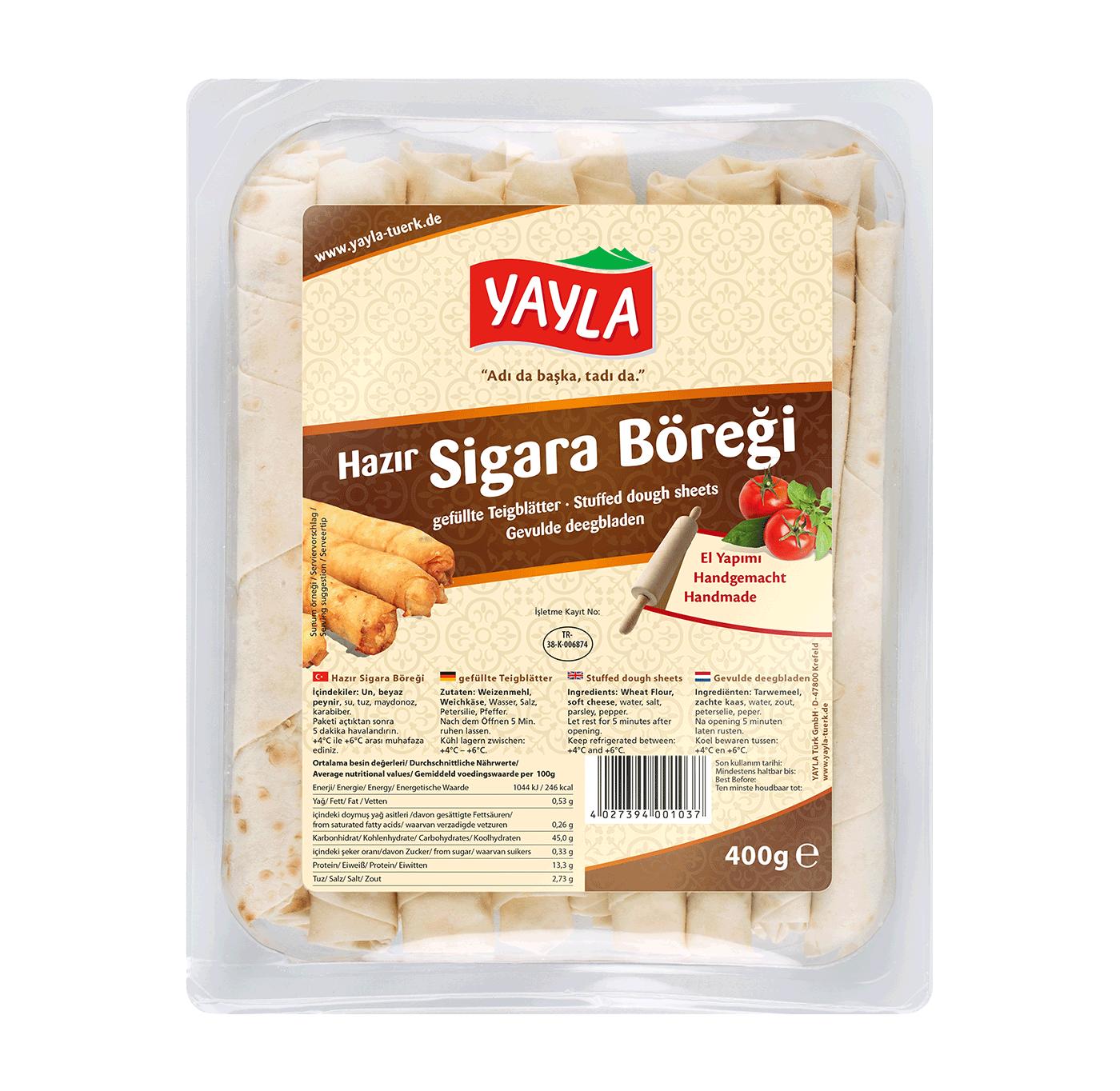Yayla   Teigblätter mit Käse-Füllung