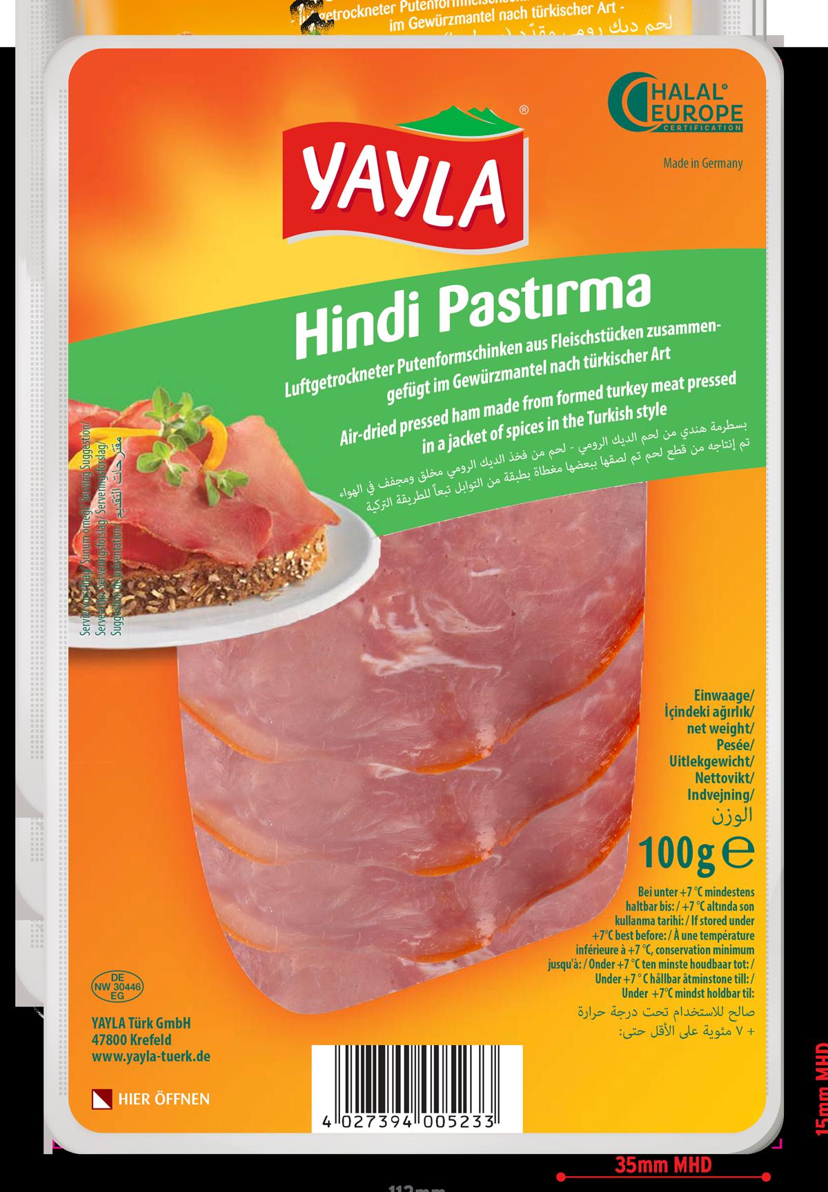 Yayla   Putenformfleischschinken nach türkischer Art